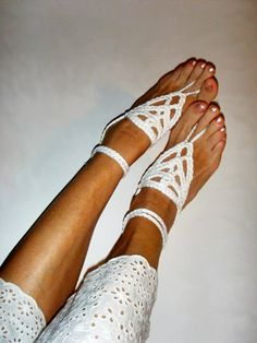 086fac13a7ba Barefoot sandals Boho Anklets Bohemian beach wedding White Hippy Chic  Anklets Bridesmaid Women Summer fashion White anklets gift for her