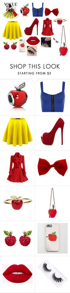 """""""Snow White"""" by cammilia-lily-riddle ❤ liked on Polyvore featuring WearAll, WithChic, Alison Lou, Betsey Johnson, Featherella, modern, disney and moderndisney"""