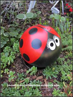 Outdoor This and That 7 - My Bike Organized Clutter: Outdoor This and That 7 - Bowling Ball Lady Bug