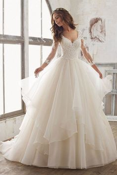 Wedding Dress Photos - Find the perfect wedding dress pictures and wedding gown photos at WeddingWire. Browse through thousands of photos of wedding dresses. Wedding Dress Trends, Long Wedding Dresses, Princess Wedding Dresses, Bridal Dresses, Wedding Ideas, Beautiful Wedding Dress, Trendy Wedding, Ball Gown Wedding Dresses, Fluffy Wedding Dress