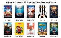 Kids Summer Movies Theaters in Utah Summer Programs For Kids, Programming For Kids, Kid Movies, Movie List, Summer Kids, Movie Theater, Entertaining, Fun, Wedding