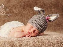 Babymütze Hase