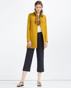 Image 1 of COAT WITH PETER PAN COLLAR from Zara
