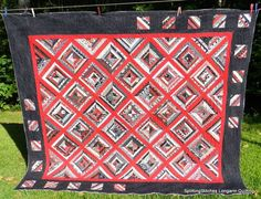 Colorful Quilts for Teens | Very, very cool quilt!! Perfect for the teen boys!!