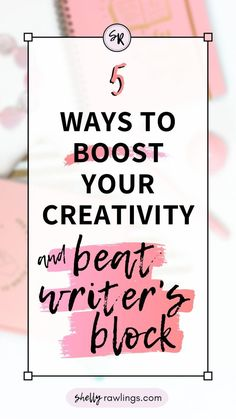 5 Ways to Boost Your Creativity and Beat Writer's Block – Shelly Rawlings Start Writing, Blog Writing, Essay Writing, Writing Tips, Harriet The Spy, Morning Pages, Boost Creativity, College School Supplies, Pretty Tough