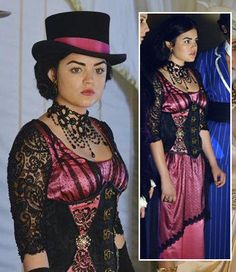 Aria's halloween costume on Pretty Little Liars 2013.  Outfit Details: http://wornontv.net/20096/ #PrettyLittleLiars #ABCFamily #PLL