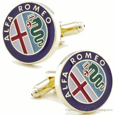 Alfa Romeo Car Cufflinks #cufflinks - Black Friday Sale / Cufflinksman