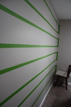 Good tips on painting stripes.  A Simple Kind of Life: How To Paint Stripes On A Wall