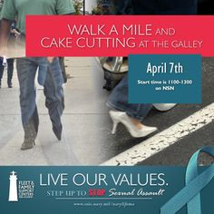 Sexual Assault Awareness Month Walk a Mile and Cake Cutting, April Naval Station Norfolk, Support Center, Walk A Mile, Family Support, April 7, Cake, Kuchen, Torte, Cookies