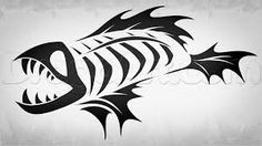 Risultati immagini per fish skeleton Fish Skeleton, Skeleton Tattoos, Tribal Tattoos, Body Art, Skull, Fish Bones, Beautiful, Fishing, Cricut