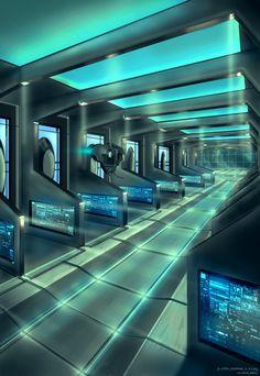 Spaceship Interior by capottolo.deviantart.com on @deviantART