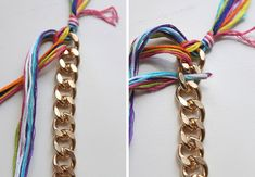A recreation of the popular braided chain bracelet using a multitude of colors! Make And Sell, How To Make, Braids, Personalized Items, Chain, Bracelets, Diy, Jewelry, Necklaces