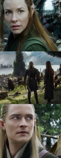 """It must have been terrifying for Legolas and Tauriel to see all this desolation. They are young, immortal elves who have never seen so much death and suffering. The trailer does a god job in showing thier fear, and confusion. By the end of the war, they will not be the same."""