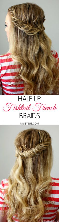 How To: half up fishtail french braids