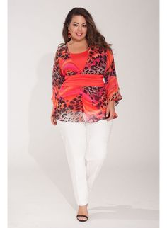 Faythe Plus Size Top in Safari Heat  Trendy Curvy | Plus Size Fashion | Fashionista | Shop online at www.curvaliciousclothes.com TAKE 15% OFF Use code: SVE15 at checkout