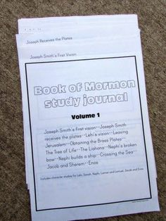 Book of Mormon Study Guide for Kids (Volume Includes detailed study pages for 12 stories from the Book of Mormon, as well as 6 Character studies. 36 pages total. Family Scripture, Scripture Reading, Scripture Study, Scripture Journal, Book Of Mormon Scriptures, Book Of Mormon Stories, Vision Book, Scripture Memorization, Study Journal