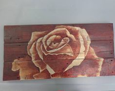 Wood Staining Techniques, Wood Burning, Wood Projects, Rustic, Etsy, Creative, Home Decor, Climbing Flowers, Stain Wood