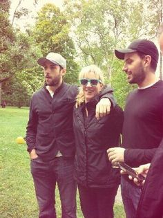 Jason Demers (SJ Sharks) with his mother and brother