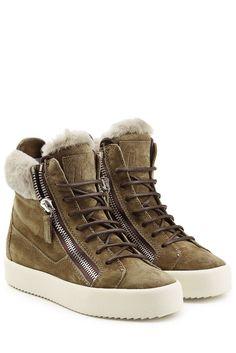 #Giuseppe #Zanotti #High, #Top, #Sneakers aus #Veloursleder mit #Webpelz #…