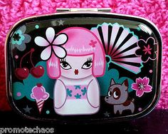 FLUFF KIMONO CUTIE METAL MINI PILL BOX Divider Mirror Puppy Dog Travel Case Pink #fluff #pillbox #Asian ★ Free US Shipping on 500+ awesome items our ebay store! 40% Off Sale! www.TerminusCity.com  ★