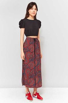 Staring At Stars Red Paisley Crinkle Culottes