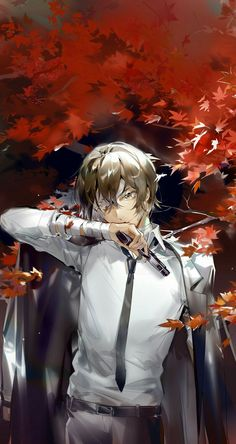 Bungou Stray Dogs Wallpaper, Dog Wallpaper, Dazai Bungou Stray Dogs, Stray Dogs Anime, Manga Anime, Anime Art, Cute Anime Guys, Anime Love, Dazai Osamu