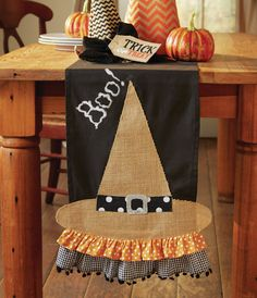 A REAL WITCH FRIENDS HALLOWEEN SET OF 2 BATH HAND TOWELS EMBROIDERED BY LAURA