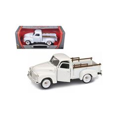 1950 GMC Pickup White Diecast Model by Road Signature Gmc Pickup, Rubber Tires, Diecast Models, Pick Up, Motorcycles, Cartoons, Toy, Trucks, Dreams