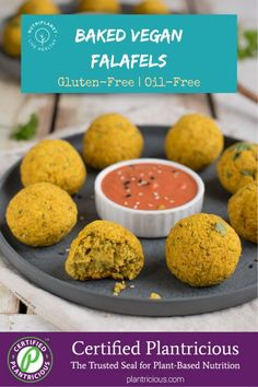 Plantricious Certified gluten-free baked vegan falafel recipe with perfect consistency and full of flavour. Falafel Recipe With Canned Chickpeas, Vegan Falafel Recipe, Finger Food Appetizers, Finger Foods, Appetizer Recipes, Whole Food Diet, Whole Food Recipes, Vegan Recipes, Plant Based Whole Foods