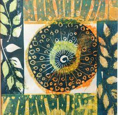 Angie Mitchell Gelli Plate Printing, Gelli Arts, Textile Fiber Art, Tampons, Wildlife Art, Print Artist, Elementary Art, Art Prints, Lino Prints