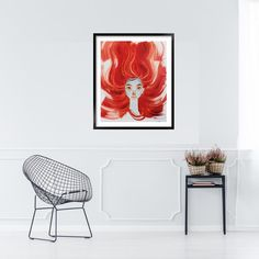 Portraitportrait girlOriginal paintinggirl with red | Etsy Oil Painting For Sale, Paintings For Sale, Fantasy Girl, Red Hair, Accent Chairs, Mirror, Portrait, Etsy, Furniture
