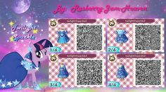 Animal Crossing QR code: Twilight Sparkle by Rasberry-Jam-Heaven.deviantart.com on @deviantART