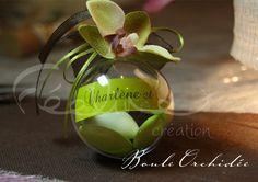 Boule à dragées mariage orchidée coloris au choix Féeline création Nice