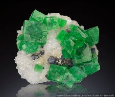 Green Fluorite from Rogerly Mine. UK.   exclusiveminerals's homepage