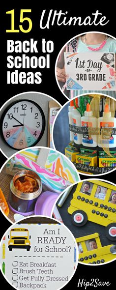 15 Of Our BEST Back to School Ideas (Lunches, Crafts, Free Printables, Organizing & More) – Hip2Save
