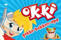 Met deze Okki-app wordt tandenpoetsen extra makkelijk en leuk. Elke keer weer!  Kies eerst met wie je wilt poetsen: het bekende figuurtje Okki of zijn vriendje Bik.  Leg de telefoon op de wastafel. Vervolgens start een 2 minuten durende animatie.