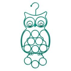 Boston+Warehouse+9-Loop+Metal+Owl+Accessory+Organizer