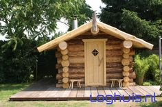 Stoere blokhut Sauna Cabins In The Woods, Eco Friendly, Cool Stuff, Outdoor Decor, Saunas, Buildings, Design, Wellness, Houses