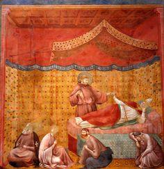 Giotto di Bondone ~ The Dream of Saint Gregory, Basilica di San Francesco, Upper Church, c.1296-1304