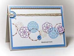 Like this layout, color combo, and the idea of the half circle punch and twine.  Jenn Picard