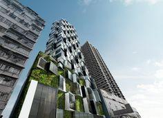 Skyscraper in Mongkok, Hong Kong Reinterprets Illegal Iron Balconies