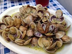 One of the perks of traveling in SPAIN: delicious clams in white wine & butter sauce!