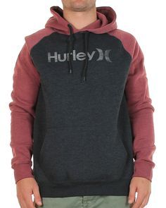 d1c5defe8172 Inseption - Hurley - Mens - One   Only Black Hood - Black Maroon