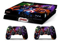 Skin PS4 HD THE AVENGERS limited edition Playstation 4 DECAL COVER
