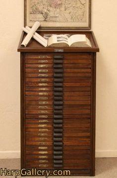 Hamilton 25 Drawer Oak Printer's File Cabinet