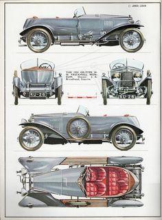 Vintage Cars, Antique Cars, Paper Car, Car Illustration, Cowboy Art, Car Drawings, Automotive Art, Nice Cars, Car Pictures