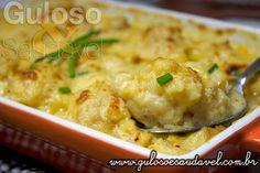 A sugestão para o #almoço é deliciosa, simples e leve, é a Couve Flor ao Molho Branco Gratinada!  #Receita aqui: http://www.gulosoesaudavel.com.br/2014/03/24/couve-flor-molho-branco-gratinada/