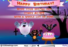 Image from httpcdnmeecardssomeecardsfilestorage wish the birthday boy girl lots of fun times with this ecard packed with spooky surprises on halloween free online have fun on your halloween birthday bookmarktalkfo Choice Image