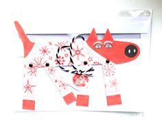 Christmastcard illustrated by Studio Teer; seen on HappyMakersBlog.com Illustrators, Paper Art, Dutch, Christmas Cards, Studio, Creative, Handmade, Crafts, Christmas E Cards