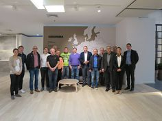 Our customer MAAS GmbH visiting Grespania's facilities with a group of German tile setters.